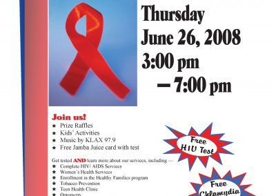 National HIV Testing Day Event 2008